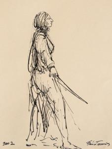 Bico-de-pena sobre papel, 2002 20 x 30 cm