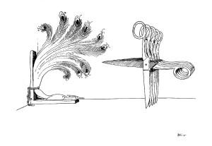 Bico-de-pena sobre papel, 1976 30 x 40 cm