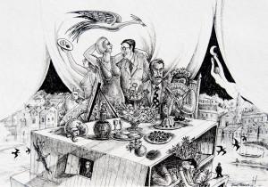 Bico-de-pena sobre papel, 2008 60 x 42 cm