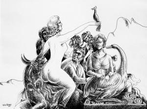 Bico-de-pena sobre papel, 2004 60 x 42 cm