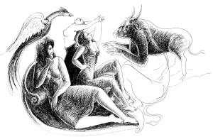 Bico-de-pena sobre papel, 2003 60 x 40 cm