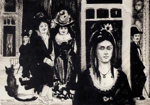 Bico-de-pena sobre papel, 1981 23 x 32 cm