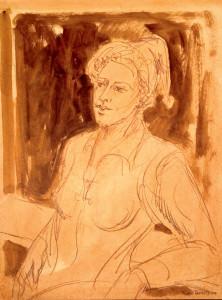 Sanguine sobre papel, 2004 63 x 47 cm