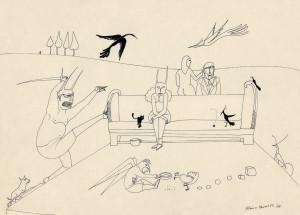 Bico-de-pena sobre papel, 1978 32 x 45 cm